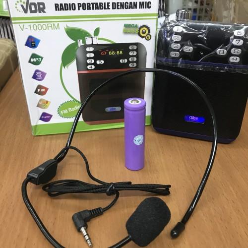 Foto Produk Speaker Megaphone Portable Mini VDR V 1000RM Speaker Pinggang VDR dari nizam Guna Jaya2