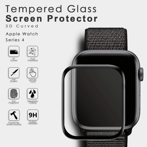 Foto Produk Tempered glass apple watch iwatch 4 full cover 3D premium 40 44 mm - 40mm dari goru