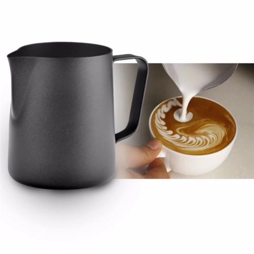 Foto Produk Milk jug teflon / latte art / milk frother 350ml / milk jug hitam dari vesper