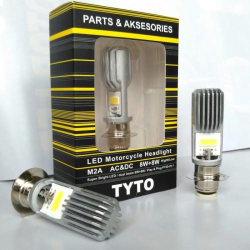 Foto Produk LAMPU LED MOTOR TYTO ORIGINAL H6 VARIO BEAT MIO JUPITER M2A AC/DC dari rodamas2