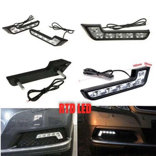 Foto Produk Drl Led Mobil 6 Mata Lampu Siang Mobil Sepasang Kiri Kanan R011 dari RTD LED