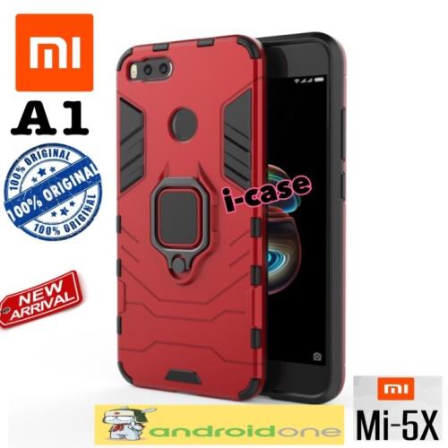 Foto Produk Xiaomi Mi A1 Case iron armor with i-ring new - casing cover mi a1 - Hitam dari i-case