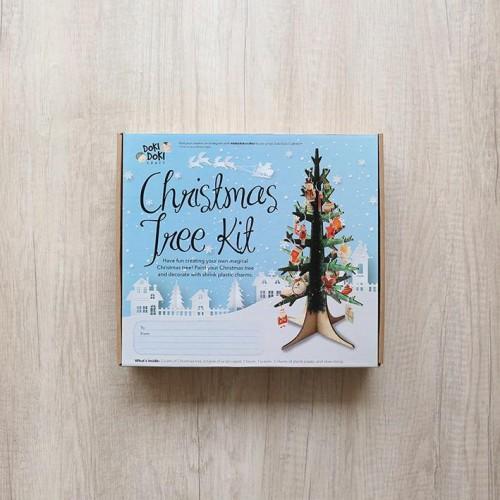 Foto Produk Christmas Tree Craft Kit Kerajinan Tangan Hiasan Natal dari Doki Doki Craft