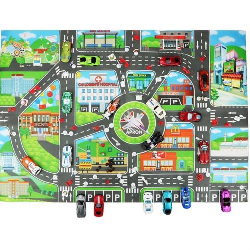 Foto Produk Car Track Map Alas Mainan Peta Jalanan Transportation Vehicle Toys dari My Own Flashcards