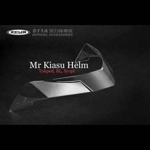 Foto Produk ORIGINAL SPOILER zeus 811 zs811 z811 clear dark smoke hitam agv pista dari Mr Kiasu