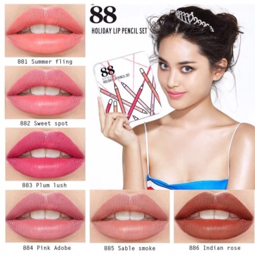 Foto Produk 88 holiday lip pencil set / EITY eight pencil pewarna bibir Korea dari Queenow