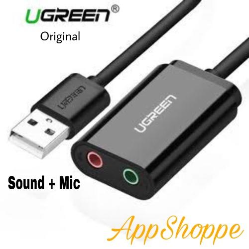 Foto Produk UGREEN USB Audio Adapter Stereo Sound Card with 3.5mm Headphone Jack dari AppShoppe