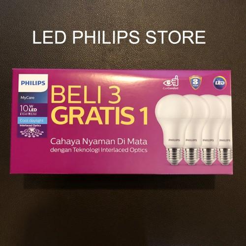 Foto Produk Philips Lampu LED 10Watt, 10W, 10 Watt, 10 W (1 paket isi 4PCS) dari LED Philips Store