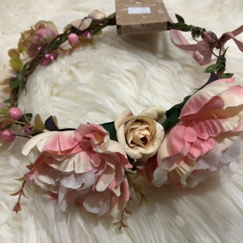 Foto Produk [NEW] Flower Crown Peach Warna Scoop dari Princess Vivienne