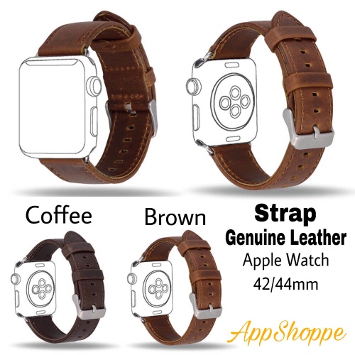 Foto Produk Apple Watch Strap 42 44mm Genuine Leather iWatch Replacement WristBand dari AppShoppe