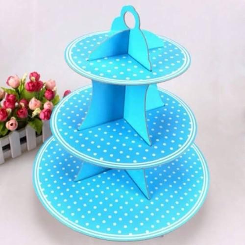 Foto Produk stand cupcake polkadot / tier cupcake polkadot pink fanta biru merah dari QUEENCUPCAKESS