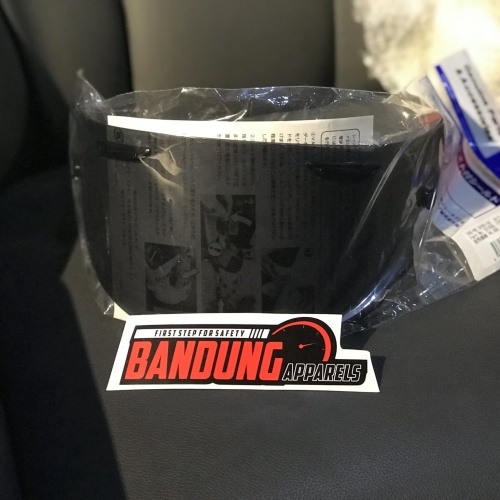 Foto Produk Arai DF Dark Flat Visor Smoke RX7X VAS ori Made in Japan arai RX-7X dari BANDUNG APPARELS
