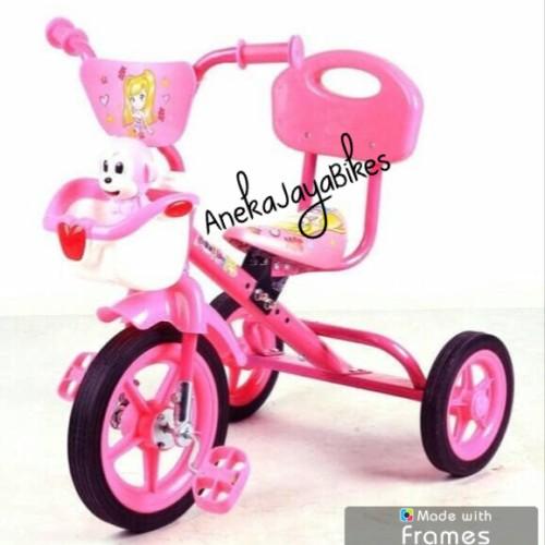 Foto Produk Sepeda Anak Roda 3 PMB Musik Pink dari Aneka Jaya Bikes
