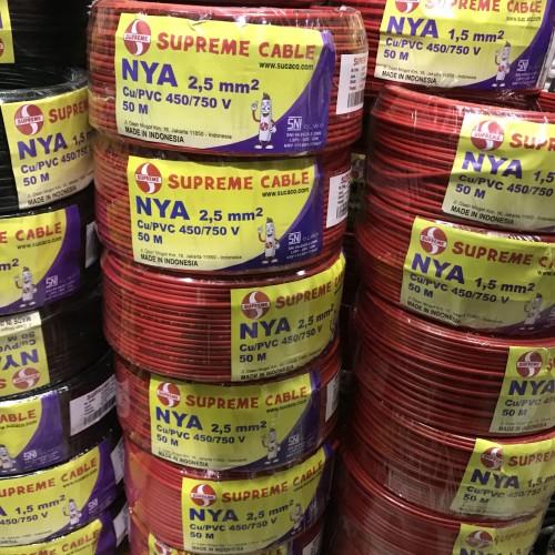 Foto Produk KABEL TUNGGAL NYA 2,5MM 2,5 MM 2.5MM 2.5 MM SUPREME 50MTR 50 METER - Biru dari Plasma electric