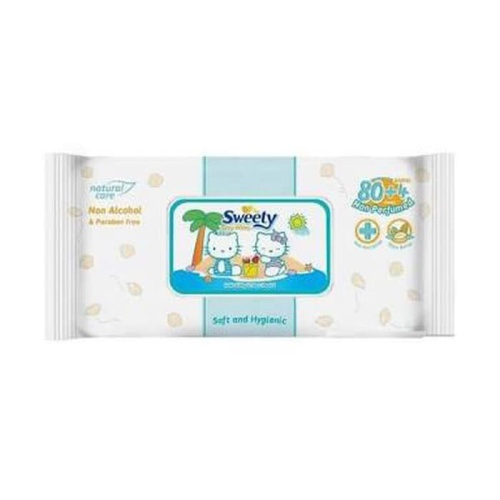 Foto Produk Sweety Baby Wipes Non Perfumed 80+4 dari Unicorn Babyshop