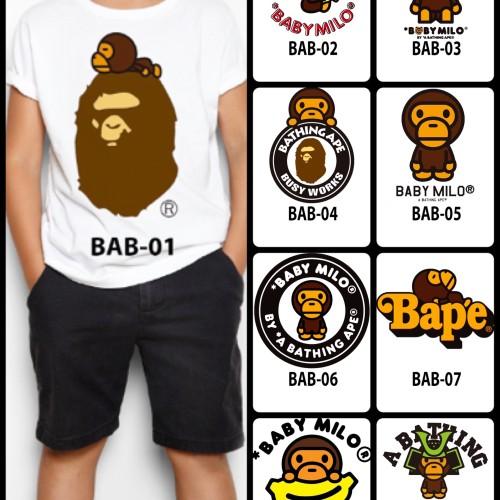 Foto Produk Kaos / Baju Anak Design 1-9 Baby Milo / Bape (free custom nama) dari Kaos Seri