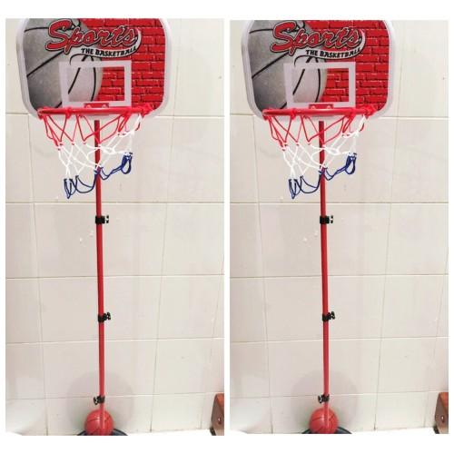 Foto Produk Ring basket tiang + bola basket besar mainan basketball anak olahraga dari VB Shoppe