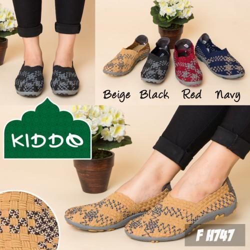 Foto Produk Kiddo H747 sepatu IMPORT anyaman rajut wanita ORI dari GalaxyShoes-JKT