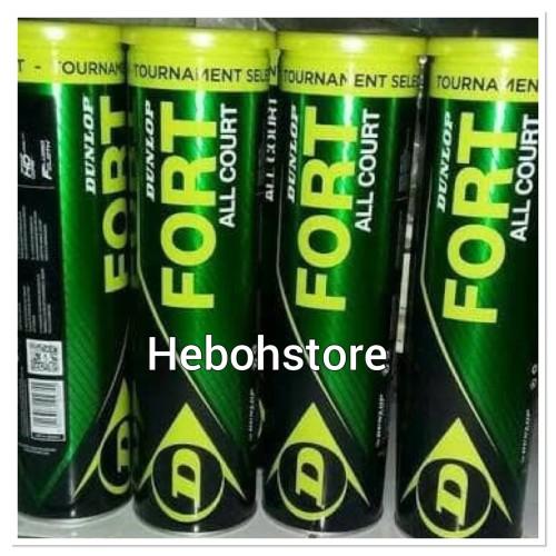 Foto Produk Bola tenis/tenis DUNLOP FORT ISI 4 bola ALL COURT ORIGINAL dari Hebohstore