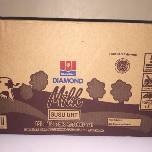 Foto Produk Susu UHT Diamond Cokelat Chocolate 1 Liter Kartonan dari Kalimantan Toko