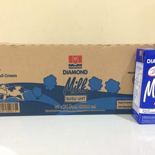 Foto Produk Susu Diamond UHT 200ml Full Cream - Kartonan (24x200ml)GRAB GOJEK ONLY dari Kalimantan Toko