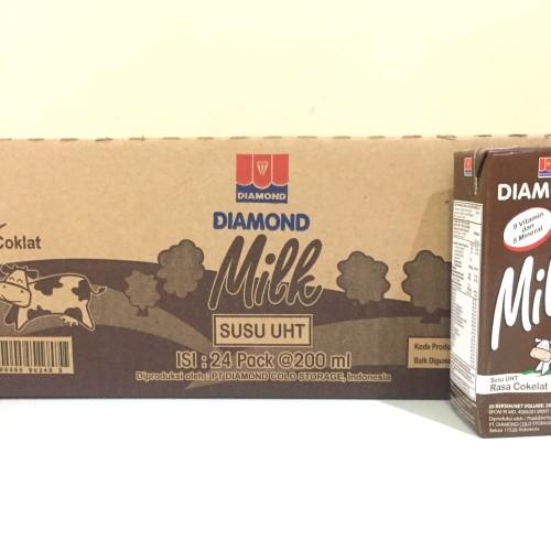 Foto Produk Susu Diamond UHT 200ml Coklat - Kartonan (24x200ml) GRAB GOJEK ONLY dari Kalimantan Toko