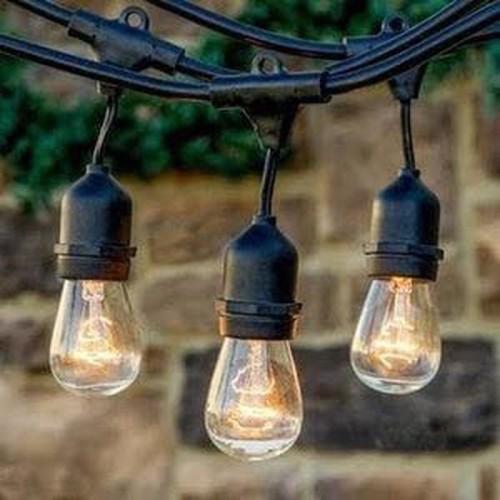 Foto Produk Kabel fiting lampu cafe gantung 10m 10 m dekorasi outdoor fitting dari wewe - electric