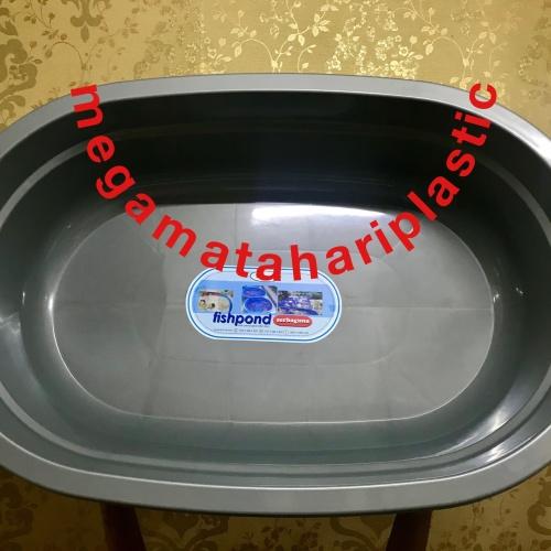 Foto Produk Kolam Bak Ikan Kura Turtle Tortoise Fishpond Serbaguna Silver dari Matahari Plastic