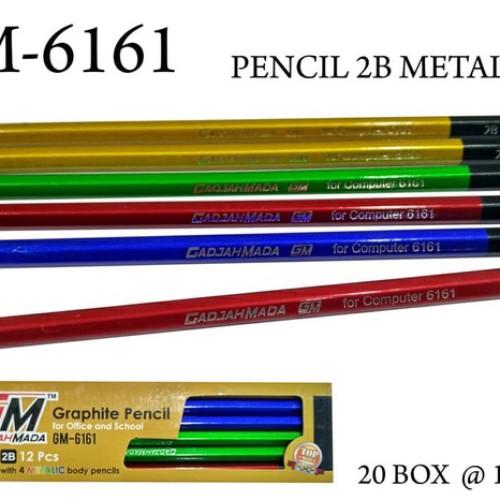 Foto Produk Pensil 12 biji 2B metalik GM6161 dari hsienmei