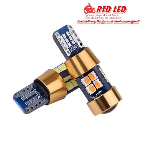Foto Produk Lampu senja Led T10 Extreme Bright Bahan Metal Premium Quality - Biru dari RTD LED