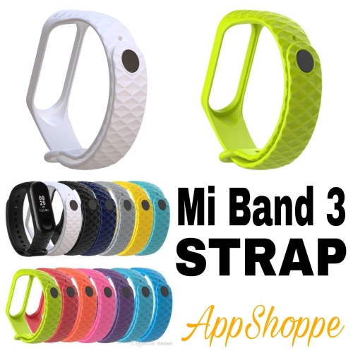 Foto Produk Mi Band 3 Xiaomi Replacement Band Strap DIAMOND STYLE dari AppShoppe