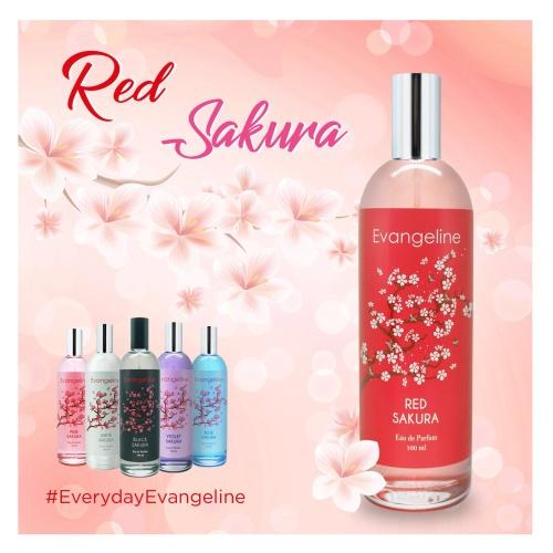 Foto Produk Evangeline Sakura Red Sakura Eau De Parfum 100ml dari Evangeline Parfum