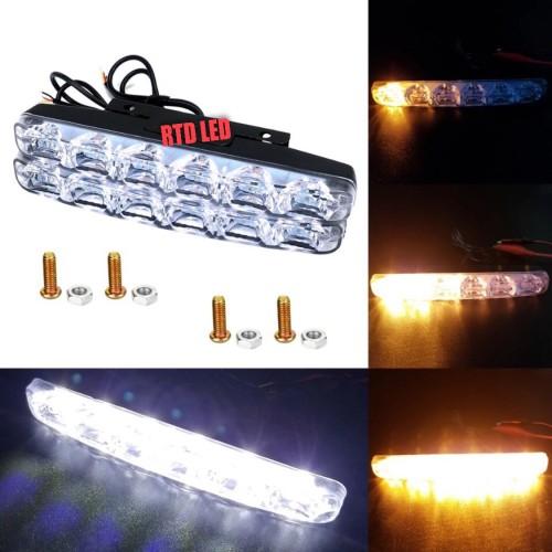 Foto Produk Lampu Drl 6 Mata Running Sein Drl Running Light Mobil 2 Pcs R050 - Putih dari RTD LED
