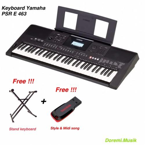 Foto Produk Keyboard PSR E 463 Yamaha Original Resmi dari Doremi.Musik