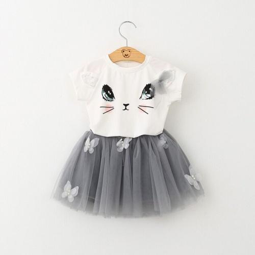 Foto Produk Setelan baju import rok tutu 1-6thn / baju anak perempuan import - Putih, XS dari Mr.Gabor