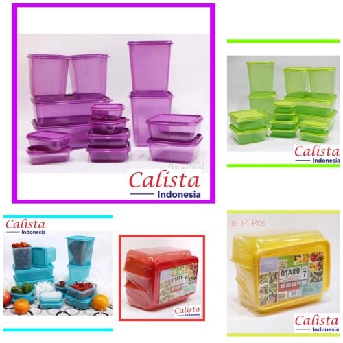 Foto Produk Calista Otaru Full Colour isi 14 Pcs /Toples Plastik/tempat makanan - Ungu dari Boss Keramik n Sanitary
