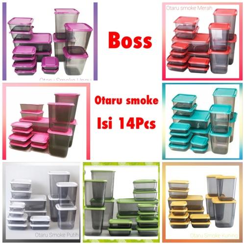 Foto Produk Toples Calista Otaru [smoke] sealware isi 14 pcs - BPA free - smoke ungu dari Boss Keramik n Sanitary