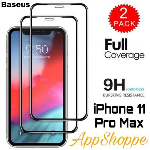 Foto Produk Baseus Full Coverage Tempered Glass 0.3mm iPhone 11 Pro Max ORIGINAL dari AppShoppe