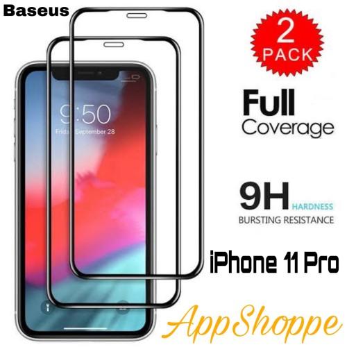 Foto Produk Baseus Full Coverage Tempered Glass 0.3mm iPhone 11 Pro ORIGINAL dari AppShoppe