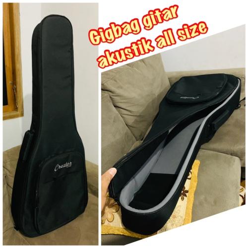 Foto Produk tas gitar akustik All size /gigbag gitar akustik hitam dari Gitar murah Bekasi