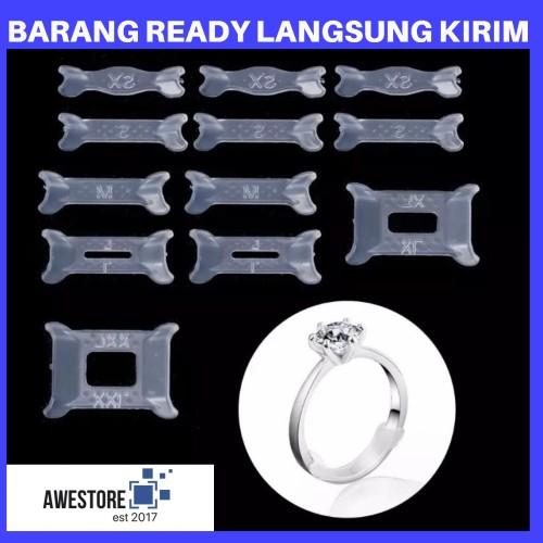 Foto Produk 1 SET 12 PCS Pengganjal Cincin Pengecil Ganjalan Ring Sizer Adjuster - ECER 1PCS XXL dari Awestore2017