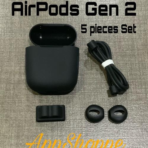Foto Produk Airpods Gen 2 Silicone CASE STRAP HOLDER EARBUDS 5pcs Set Package dari AppShoppe