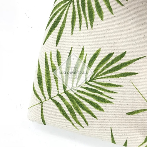 Foto Produk Kain Kanvas Palem Muda canvas palm leaf bahan twill daun tropical dari Bloomstraa
