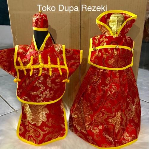 Foto Produk Sarung wine sangjit cover wine wedding dekorasi hiasan pesta dari Toko Dupa Rezeki