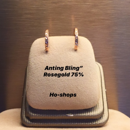 "Foto Produk Anting Bling"" Rosegold Kadar 75% Asli Emas .F9 dari Ho-shops"