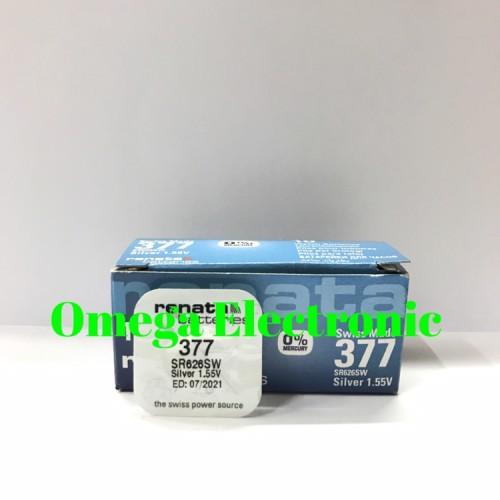Foto Produk ORIGINAL Baterai Renata SR626SW 377 Battery Batre Jam Tangan LR626 626 dari Omega Electronic