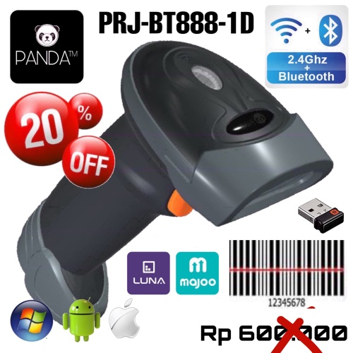 Foto Produk Wireless Bluetooth 1D Laser Barcode Scanner PANDA PRJ-393(Android,IOS) dari PANDA RETAIL SOLUTIONS