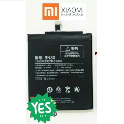 Foto Produk Baterai Batre Battery Original Xiaomi Redmi 4A BN30 dari Putinshop