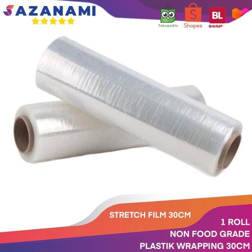 Foto Produk STRETCH FILM 30CM X 250M PLASTIK WRAPPING PLASTIC WRAP BUNGKUS BARANG dari Sazanami Tape
