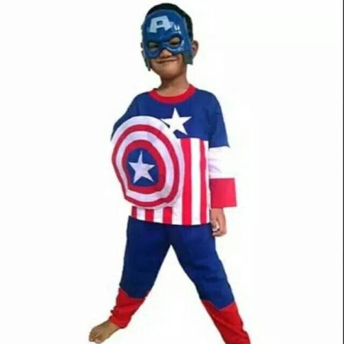 Foto Produk Kostum anak captain america+Tameng/size 10-14 dari Sun-kids